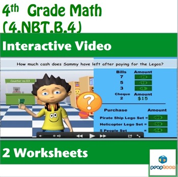 Common Core Math Activity -Add/Subtract Multi-Digit Whole Numbers-4.NBT.B.4