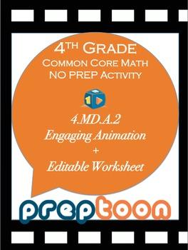 4th grade common core math warm-up activity for measuremen