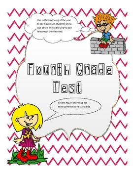 4th grade cumulative Test