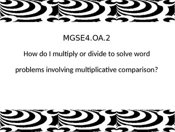 4th grade math Essential Questions G.S.E. posters
