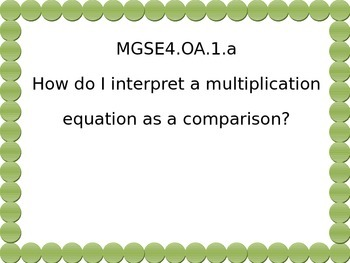 4th grade  math Essential Questions Green dot.