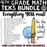 - 4th grade math TEKS Year Long Bundle ALL math standards included! + BONUSES