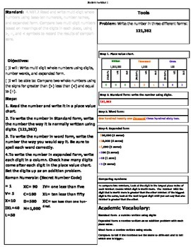 4th grade math lesson plan 4.nbt.2 Dii lesson plan