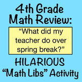 4th grade math review activity: What did my teacher do on spring break?