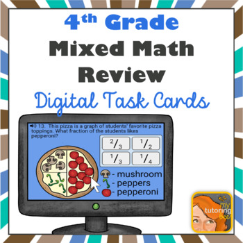 4th grade math review or assessment Boom Cards