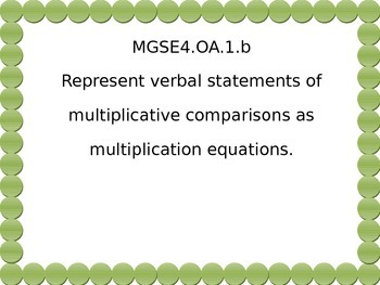 4th grade math standards for G.S.E.