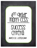 4th grade math success criteria