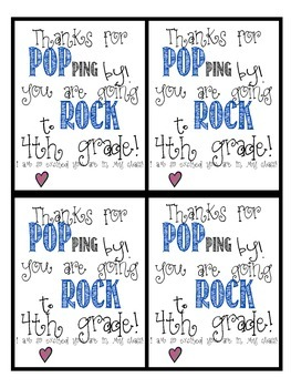 4th grade poprocks (or popcorn) FREEBIE!