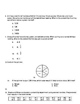 4th grade probability