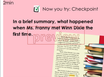 """BECAUSE OF WINN DIXIE"" reading street Unit1 week 1  PDF lessons"
