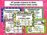 Utah 4th grade science: SAGE test preparation task cards BUNDLE