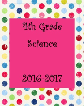4th grade science unit notebook covers