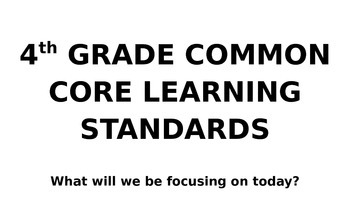 4th grade standards hanging chart! I can....