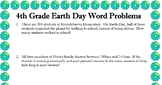 4th grade word problems about EARTH DAY