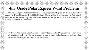 4th grade word problems about Polar Express