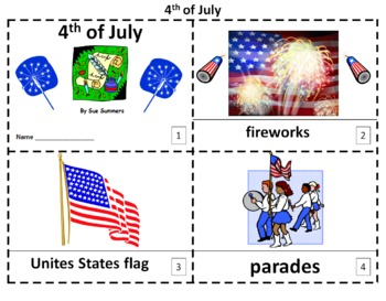 4th of July 2 Emergent Reader Booklets and Presentation