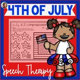 4th of July Speech Therapy | Summer Speech and Language | July 4th