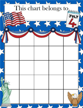 4th of July Incentive Chart