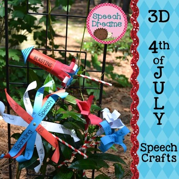 4th of July 3D Speech Therapy Crafts {articulation craftivities}