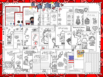 4th of July Activities, Crafts and Worksheets