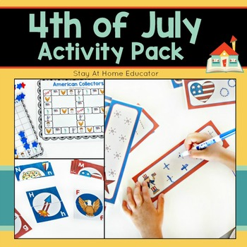 4th of July Activity Pack for Preschoolers