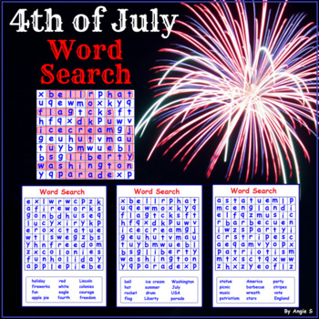 4th of July Activity - Word Search