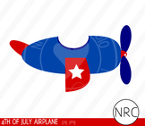 4th of July airplane clipart commercial use