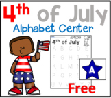 4th of July Alphabet Sensory Bin Center