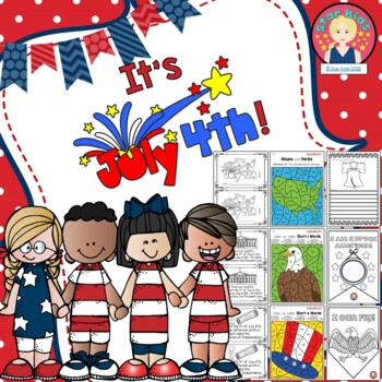 4th of July Activities and Printables for K-1 for At Home Learning