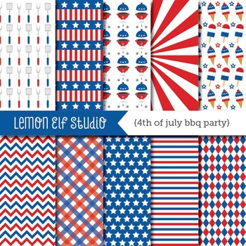 4th of July Bbq Party-Digital Paper (LES.DP40)