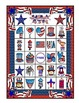 4th of July Bingo Game  6 Boards & Calling Cards Printable Activity