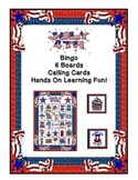 4th of July Bingo Game  6 Boards & Calling Cards Printable