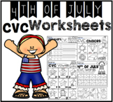 4th of July CVC Worksheets