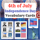 4th of July Cards for Speech Therapy, ESL