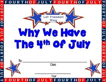 4th of July Centers & Actvities