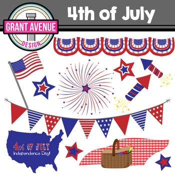 4th of July Clipart - Fourth of July Clipart