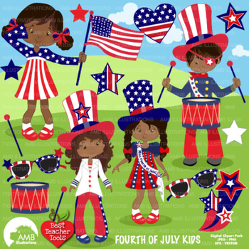 4th of July Clipart, Fourth of July clipart, Independence Day Clip Art, AMB-1183