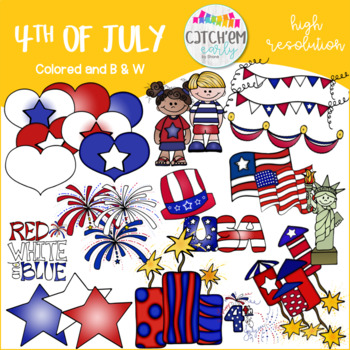 4th of July Color Clip Art