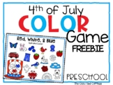 4th of July Color Game