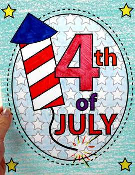 4th of July Coloring Sheet