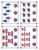 4th of July Counting to 12 Clip Cards
