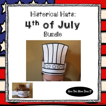 4th of July Craft Freebie - Printable Holiday Hats
