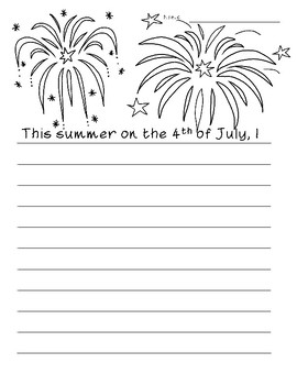 4th of July ~ Creative Writing for Back to School