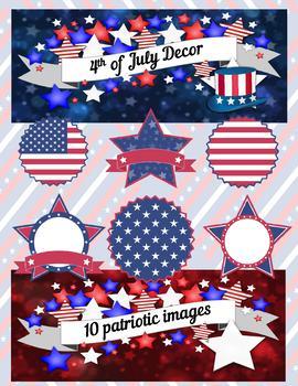 4th of July Decor Clip Art