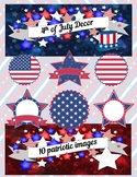 4th of July Decor Clip Art
