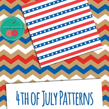 4th of July Digital Paper