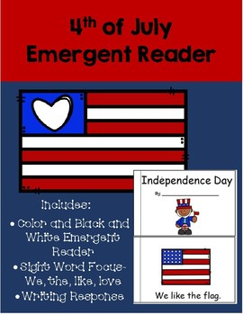 4th of July Emergent Reader