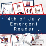 4th of July  Emergent Reader for Preschoolers