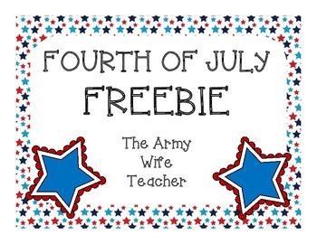 4th of July FREEBIE