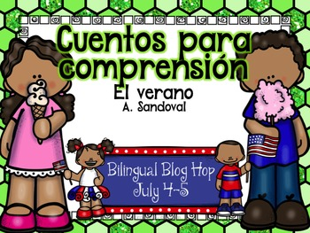 4th of July FREEBIE-Summer Reading Comprehension in Spanish 2015